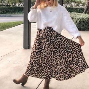 Cheetah Print Maxi Skirt